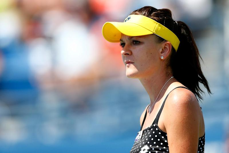 Agnieszka Radwanska of Poland looks on against Shuai Peng of China during the 2014 US Open on August 27, 2014 in New York City (AFP Photo/Julian Finney)