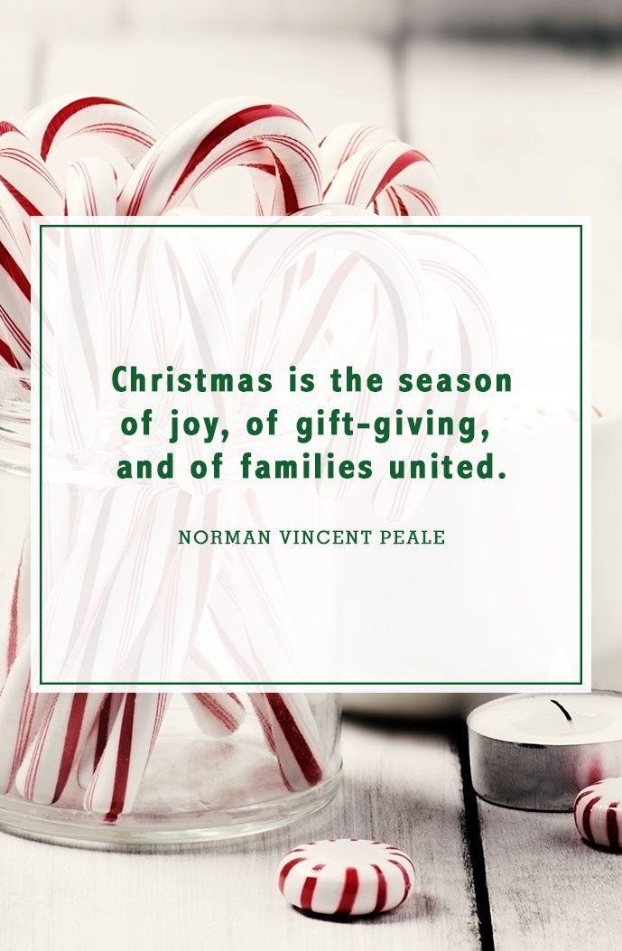 """<p>""""Christmas is the season of joy, of gift-giving, and of families united.""""</p>"""