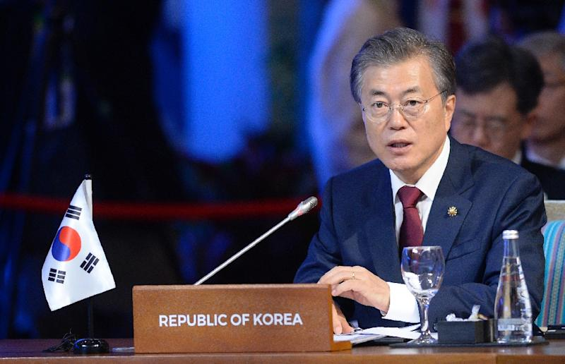 """South Korean President Moon Jae-In's  office has said he hopes to """"normalise"""" ties with China during his visit to Beijing"""