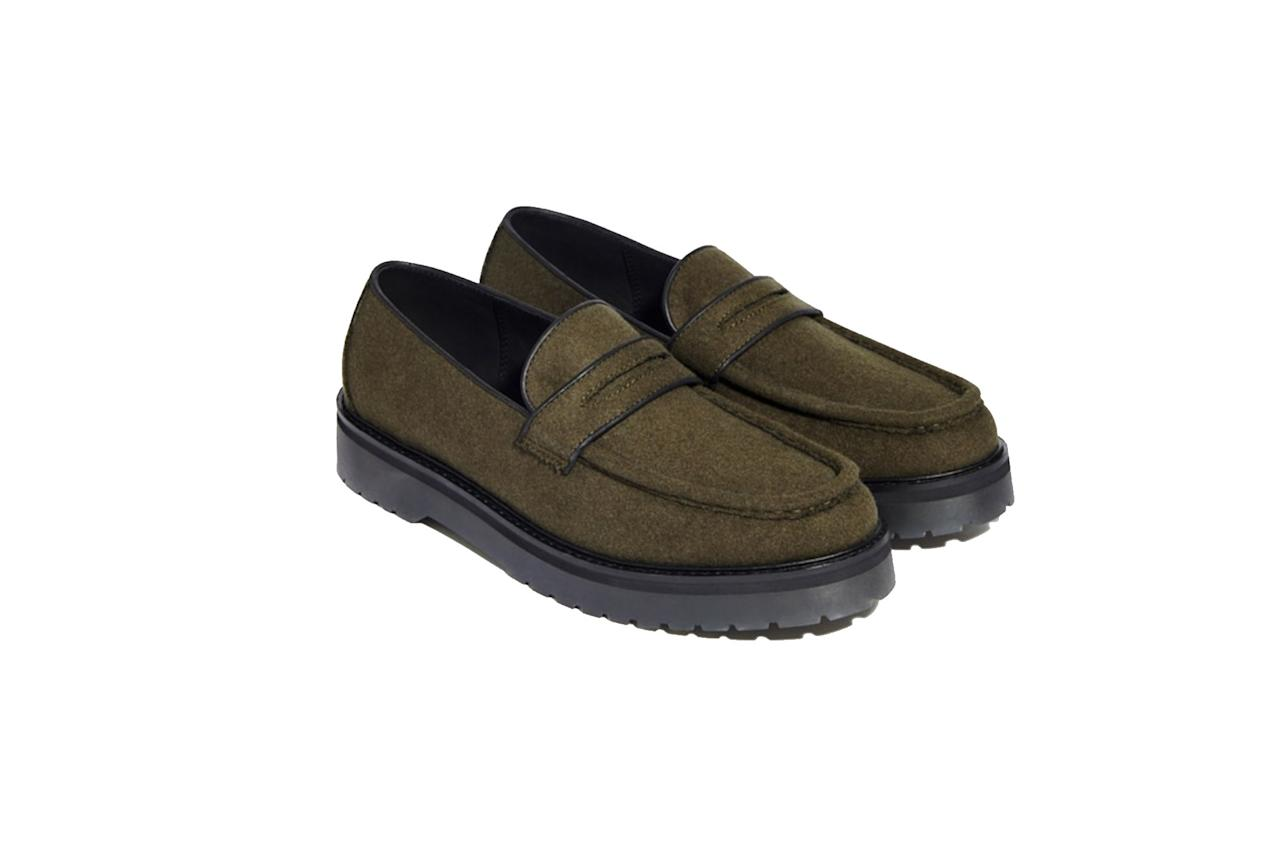 "These chunky wool loafers will stand up to your widest (and weirdest) pants. —Megan Gustashaw $285, Saturdays NYC. <a href=""https://www.saturdaysnyc.com/products/idris-wool-loafer-military-olive-fall-2019/?sku=M41906ID02-Military%20Olive-5"">Get it now!</a>"