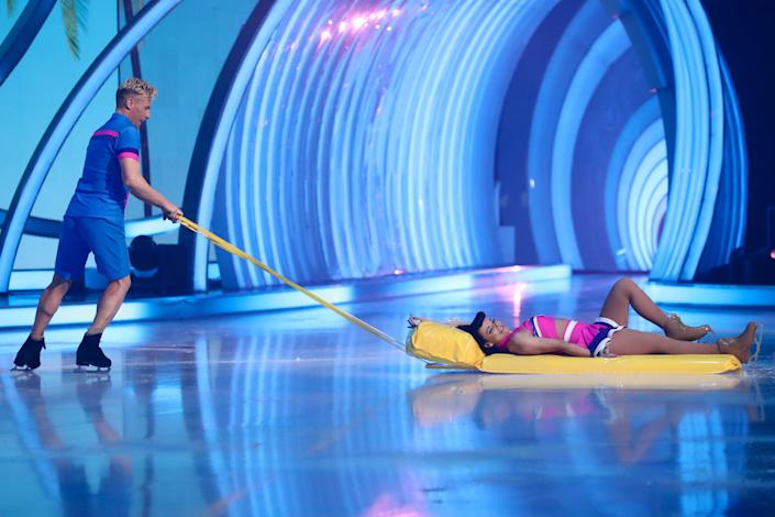 Editorial use only Mandatory Credit: Photo by Matt Frost/ITV/Shutterstock (11795927ci) Faye Brookes and Matt Evers 'Dancing On Ice' TV show, Series 13, Episode 8, Final, Hertfordshire, UK - 14 Mar 2021