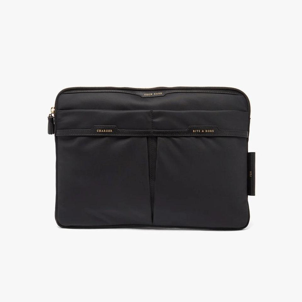 """$395, MATCHESFASHION.COM. <a href=""""https://www.matchesfashion.com/us/products/Anya-Hindmarch-Technology-Case-recycled-fibre-pouch--1417322"""" rel=""""nofollow noopener"""" target=""""_blank"""" data-ylk=""""slk:Get it now!"""" class=""""link rapid-noclick-resp"""">Get it now!</a>"""