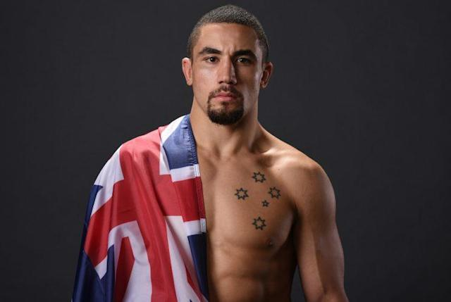 Robert Whittaker (pictured) will face Yoel Romero for the middleweight title at UFC 213. (Getty)