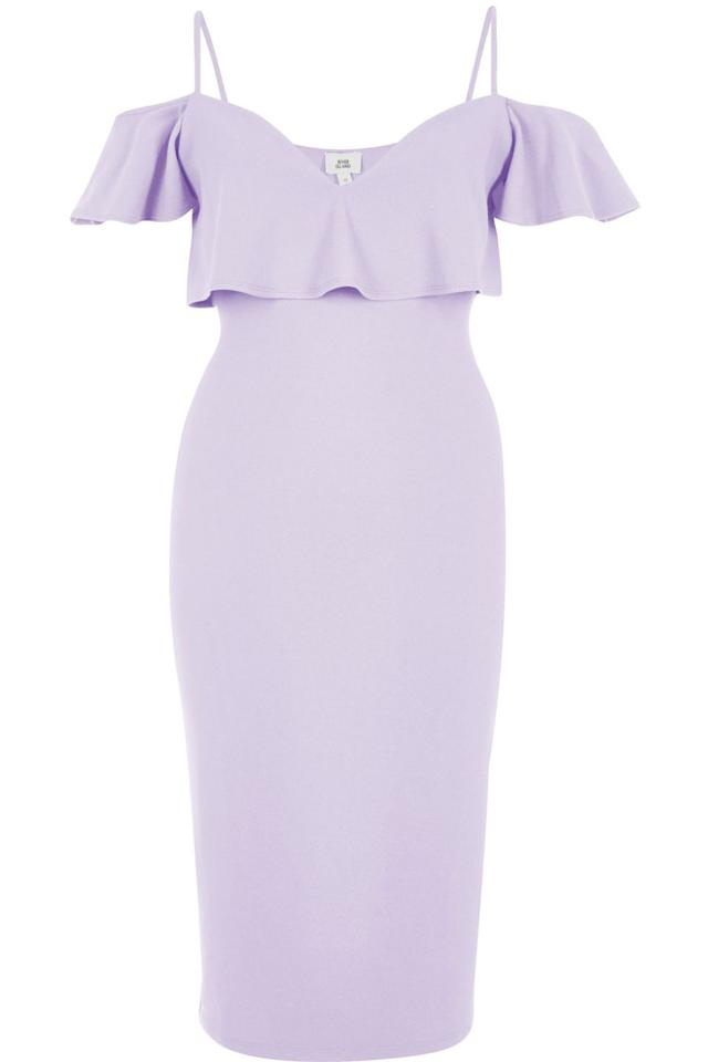"<p><em>Light Purple Cold Shoulder Bodycon Dress, RIVER ISLAND, $70</em></p><p><a rel=""nofollow"" href=""https://us.riverisland.com/women/dresses/bodycon-dresses/light-purple-cold-shoulder-bodycon-dress-703327"">BUY NOW</a></p>"