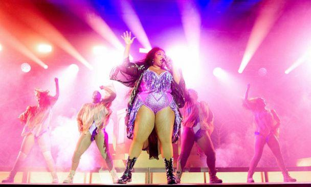 PHOTO: Lizzo performs at Victoria Warehouse on November 11, 2019 in Manchester, England. (Shirlaine Forrest/WireImage/Getty Images)