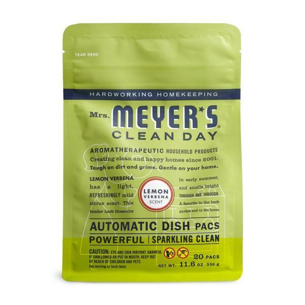"""<p><strong>Mrs. Meyer's Clean Day</strong></p><p>homedepot.com</p><p><strong>$8.72</strong></p><p><a href=""""https://go.redirectingat.com?id=74968X1596630&url=https%3A%2F%2Fwww.homedepot.com%2Fp%2FMrs-Meyer-s-Clean-Day-Lemon-Verbena-Automatic-Dishwasher-Pacs-20-pack-306684%2F202277506&sref=https%3A%2F%2Fwww.goodhousekeeping.com%2Fhome%2Fcleaning%2Fg32320620%2Fbest-dishwasher-detergents%2F"""" rel=""""nofollow noopener"""" target=""""_blank"""" data-ylk=""""slk:Shop Now"""" class=""""link rapid-noclick-resp"""">Shop Now</a></p><p>Who says washing dishes can't be a pleasant chore, even for the dishwasher? Mrs. Meyer's Clean Day pacs were a top performer in our cleaning tests, handling hard water with ease and leaving our glassware with hardly a spot to be found. What's unique with Mrs. Meyer's though are <strong>the amazing essential oil scents of lemon verbena, lavender, and basil. </strong>And the same garden-inspired scents can be found in liquid dish soap, hand soap, and all-purpose cleaner for a complete kitchen aromatherapy experience. </p>"""