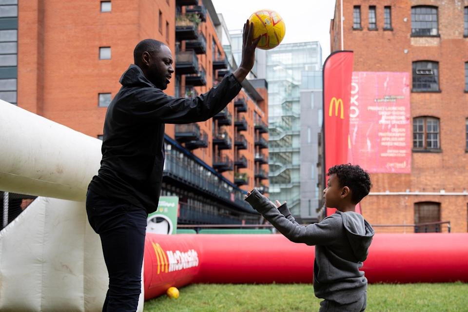 Ledley King attended a McDonald's Fun Football programme, which is a joint initiative with the FA to give kids aged 5-11 free access to football