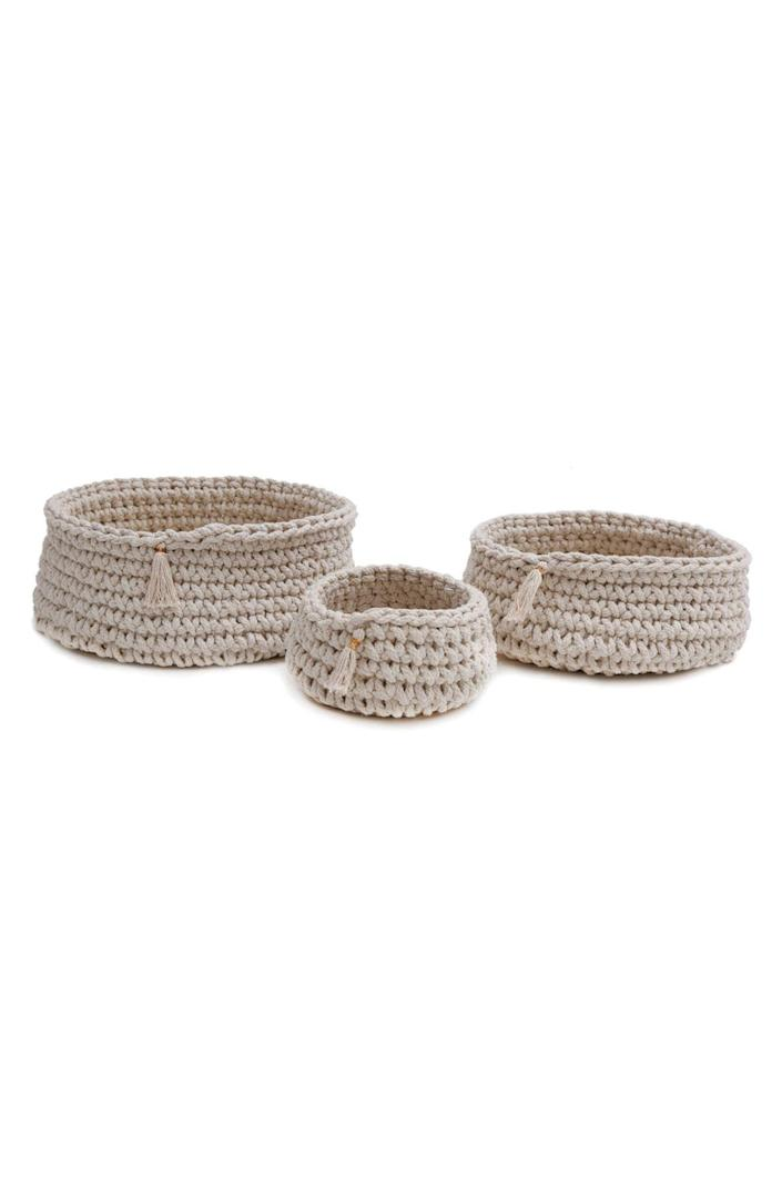 """<p><strong>POM POM AT HOME</strong></p><p>nordstrom.com</p><p><a href=""""https://go.redirectingat.com?id=74968X1596630&url=https%3A%2F%2Fwww.nordstrom.com%2Fs%2Fpom-pom-at-home-baya-set-of-3-baskets%2F4720134&sref=https%3A%2F%2Fwww.bestproducts.com%2Fhome%2Fg37170909%2Fnordstrom-anniversary-sale-2021%2F"""" rel=""""nofollow noopener"""" target=""""_blank"""" data-ylk=""""slk:Shop Now"""" class=""""link rapid-noclick-resp"""">Shop Now</a></p><p><del>$161.00</del> $107.90 <strong>(33% off)</strong></p><p>Store all your favorite knick-knacks in these tassel-embellished, handwoven baskets from Los Angeles-based company Pom Pom at Home. </p>"""
