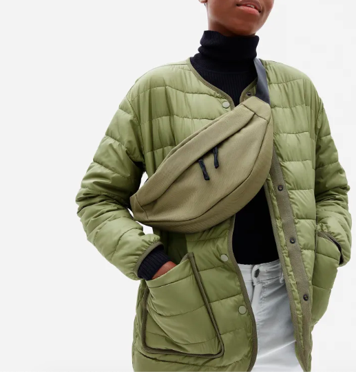 The ReNew Transit Bag in Peat. Image via Everlane.