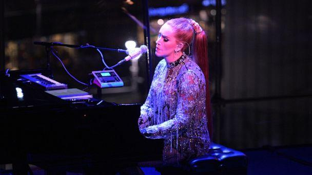 PHOTO: Our Lady J plays the piano at Lincoln Center in New York, Feb. 15, 2020. (Brittany Berkowitz/ABC News)