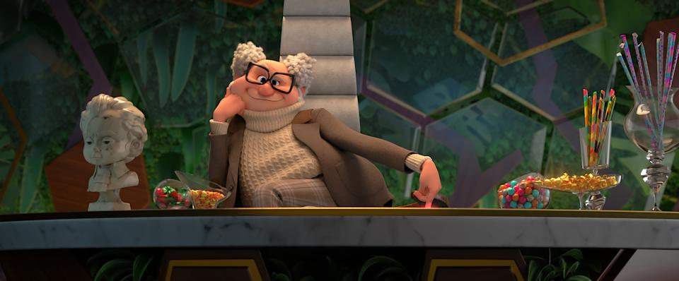 Dr. Edwin Armstrong (Jeff Goldblum) in DreamWorks Animation's The Boss Baby: Family Business, directed by Tom McGrath.