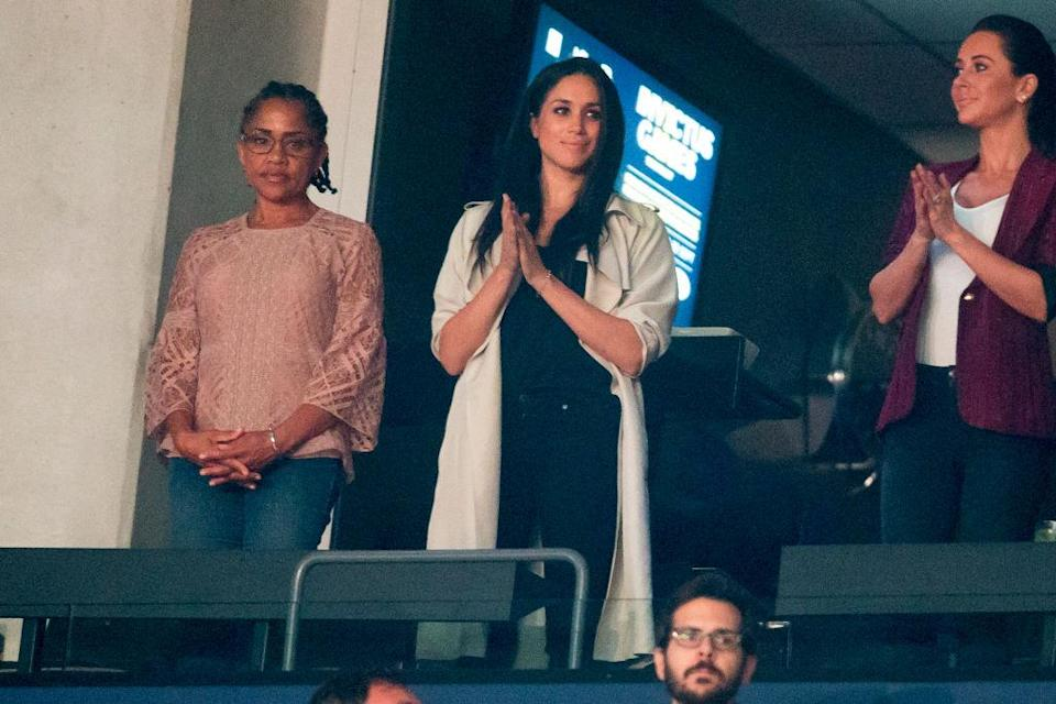 <em>Meghan Markle also wore the Canadian brand to the closing ceremony of the 2017 Invictus Games in Toronto. (Getty Images)</em>