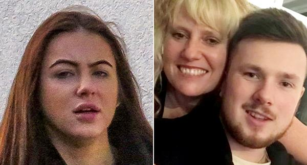 Wagstaff (left) lost control on a double bend and smashed into a tree, killing her boyfriend Harry (right, with his mother Dawn), who was in the back of the car. (SWNS)
