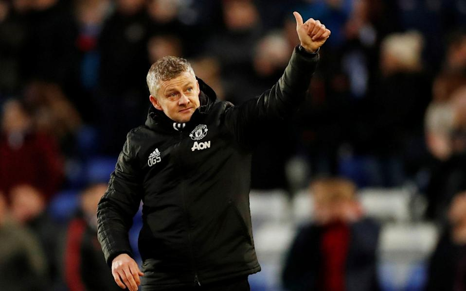 Ole Gunnar Solskjaer was pleased Man Utd could relieve the pressure by progressing in the cup - Action Images via Reuters
