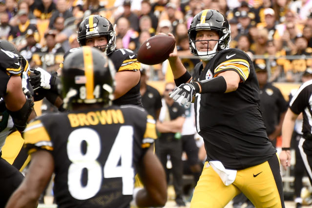 Pittsburgh Steelers quarterback Ben Roethlisberger (7) tries to bounce back from throwing five interceptions last week. (AP)