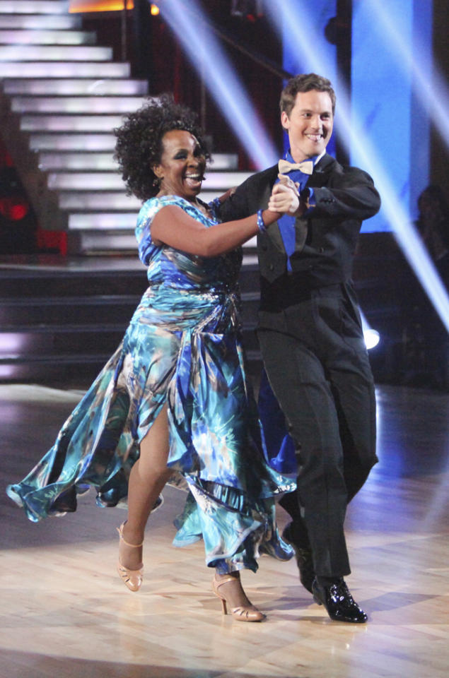 "Tristan Macmanus and Gladys Knight perform on ""Dancing With the Stars."""