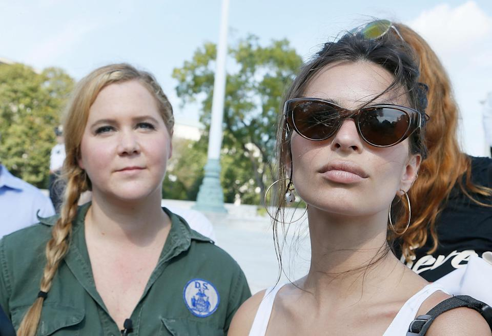 Amy Schumer and Emily Ratajkowski were detained near Capitol Hill during a #CancelKavanaugh protest against Supreme Court nominee Brett Kavanaugh. (Photo: Getty Images)