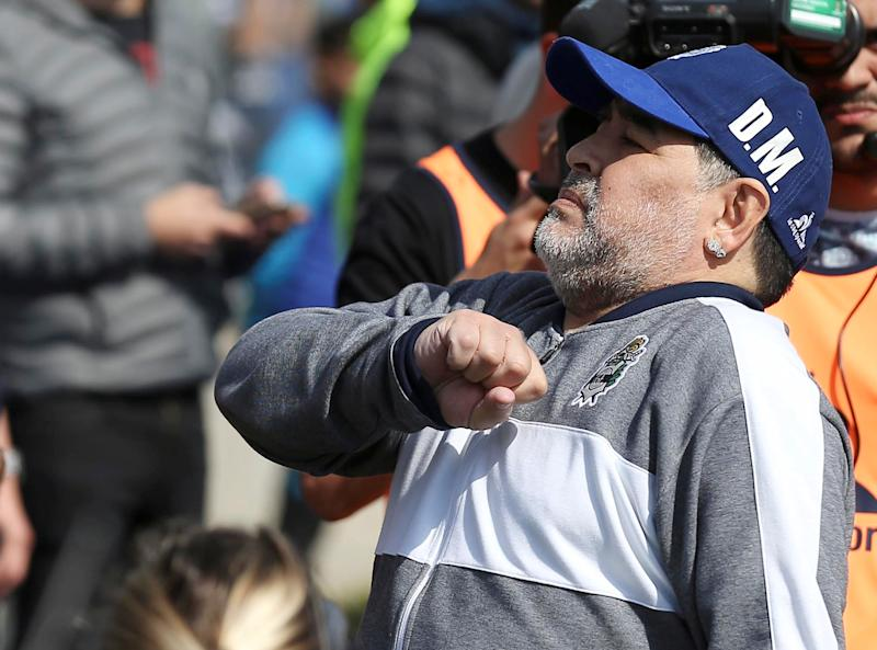 Diego Maradona ist Trainer bei Gimnasia in Argentinien. (Bild: Getty Images)