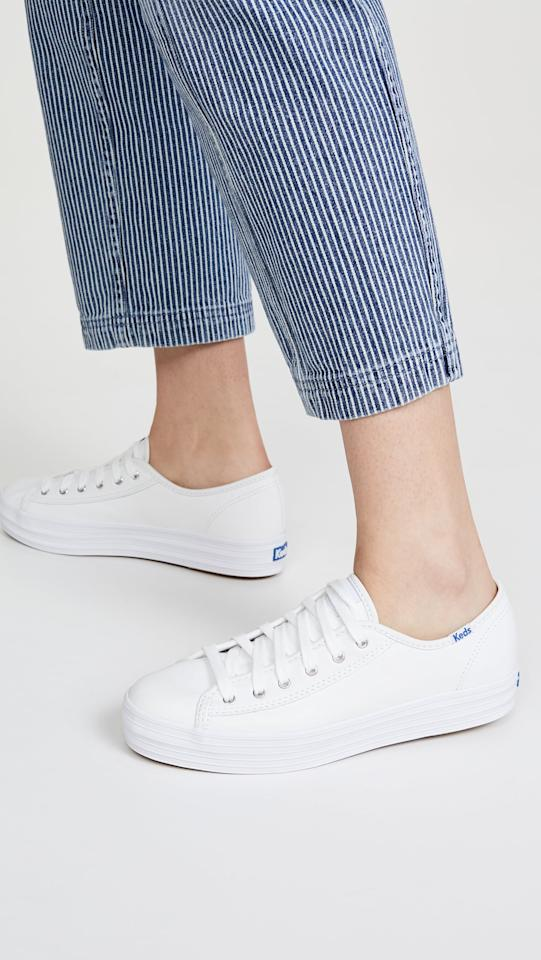 "<p>These classic <a href=""https://www.popsugar.com/buy/Keds-Triple-Kick-Leather-Sneakers-585303?p_name=Keds%20Triple%20Kick%20Leather%20Sneakers&retailer=shopbop.com&pid=585303&price=65&evar1=fab%3Aus&evar9=47577717&evar98=https%3A%2F%2Fwww.popsugar.com%2Fphoto-gallery%2F47577717%2Fimage%2F47578090%2FKeds-Triple-Kick-Leather-Sneakers&list1=shoes%2Csneakers%2Csummer%2Csummer%20fashion%2Cfashion%20shopping&prop13=api&pdata=1"" rel=""nofollow"" data-shoppable-link=""1"" target=""_blank"" class=""ga-track"" data-ga-category=""Related"" data-ga-label=""https://www.shopbop.com/triple-kick-leather-sneakers-keds/vp/v=1/1550973135.htm?folderID=13439&amp;fm=other-shopbysize-viewall&amp;os=false&amp;colorId=12397&amp;ref_=SB_PLP_NB_55"" data-ga-action=""In-Line Links"">Keds Triple Kick Leather Sneakers</a> ($65) are always a good idea.</p>"
