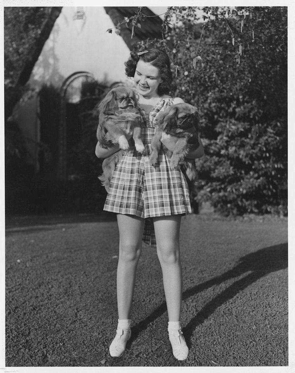 <p>This promotional shot of Judy showed her relaxing at home with her dogs, like any other teenager.</p>