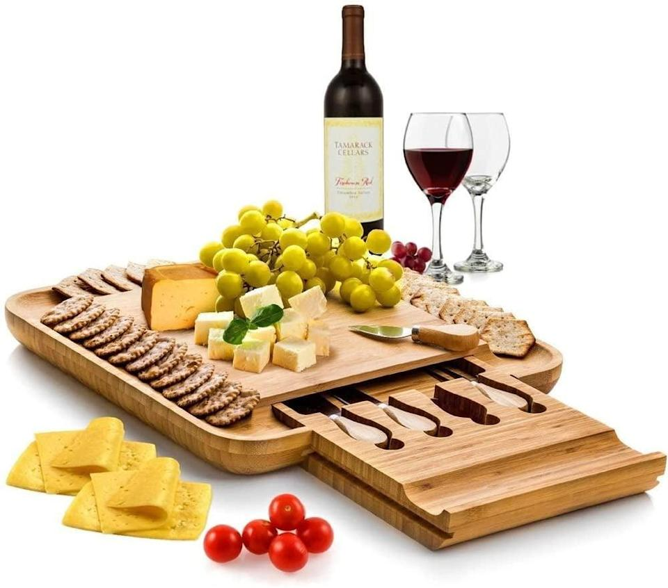 <p>If you know someone who loves to host, get them the <span>Bamboo Cheese Board Set</span> ($35). The hand drawers and knives are so cool.</p>