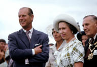 The Queen and Prince Philip during their Royal Tour of New Zealand in early 1977, as part of her Silver Jubilee celebrations. The Queen has visited New Zealand ten times.