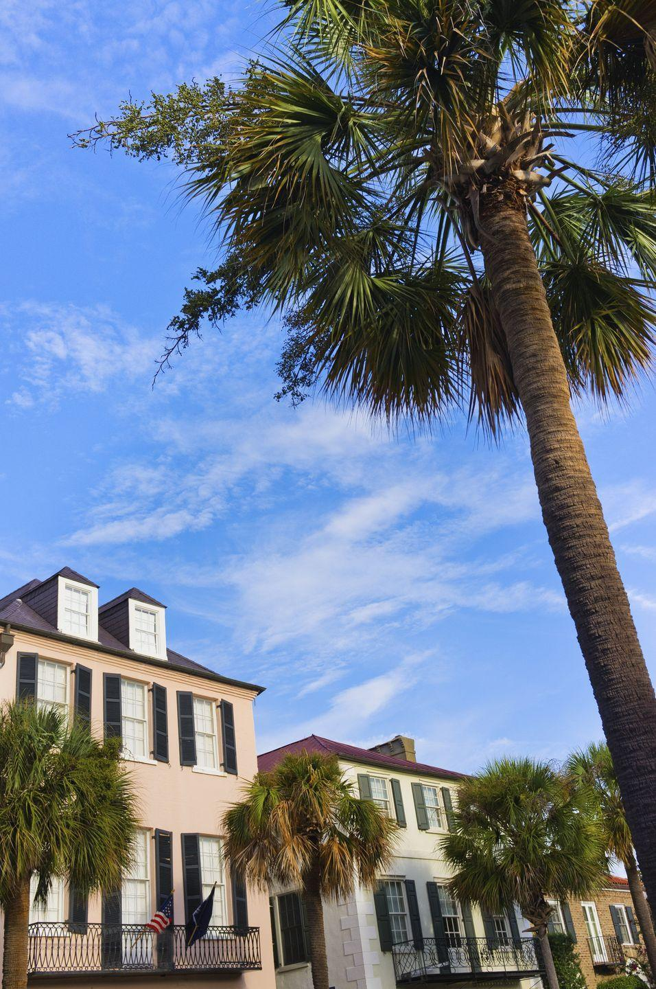 """<p><strong>Where:</strong> <a href=""""https://www.countryliving.com/life/travel/a35346/25-photos-that-prove-charleston-sc-is-the-most-charming-city-ever/"""" rel=""""nofollow noopener"""" target=""""_blank"""" data-ylk=""""slk:Charleston, South Carolina"""" class=""""link rapid-noclick-resp"""">Charleston, South Carolina</a></p><p><strong>Why We Love It: </strong>With cobblestone-lined streets and Antebellum houses in more shades of pastel than you can count, t<a href=""""https://www.countryliving.com/life/travel/g4002/under-the-radar-southern-cities-for-girlfriend-getaways/"""" rel=""""nofollow noopener"""" target=""""_blank"""" data-ylk=""""slk:his small city practically defines Southern charm"""" class=""""link rapid-noclick-resp"""">his small city practically defines Southern charm</a>.</p>"""