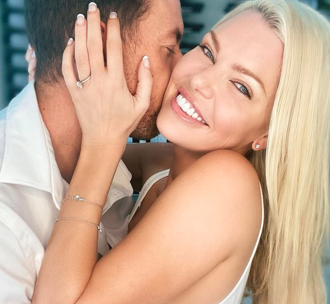 Sophie Monk's Instagram engagement announcement with Joshua Gross