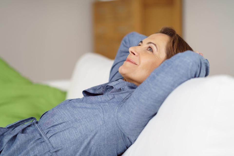 woman relaxing at home