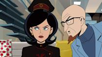 <p>Dr. Girlfriend from <strong>The Venture Bros.</strong> is eminently capable and extremely attractive. If you have a pink dress or a Jackie O. costume, this one's a cakewalk. And in a pinch, any cute, retro dress and a brunette bob will suffice.</p>