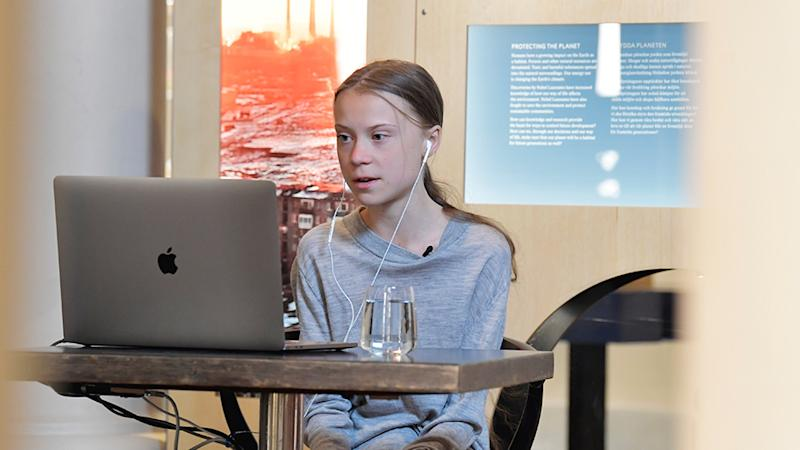 Climate activist, Greta Thunberg has called for action against both the coronavirus pandemic and climate change. Source: AP