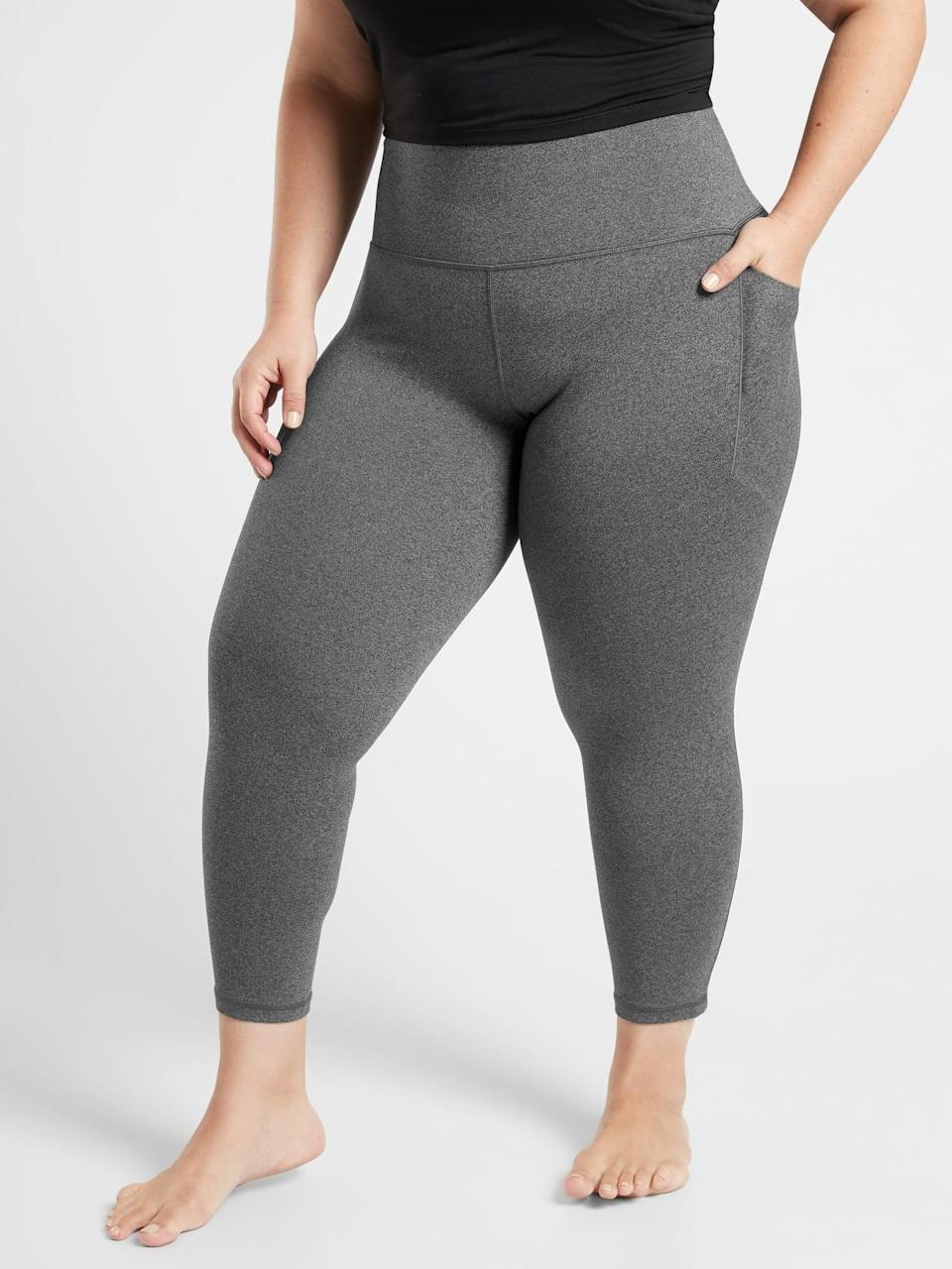 <p>The <span>Athleta Salutation Stash Pocket II 7/8 Tights</span> ($98) are the go-to leggings when you want to feel comfy but still held in. These are great for low-impact workouts like yoga and Pilates where you aren't getting drenched in sweat.</p>