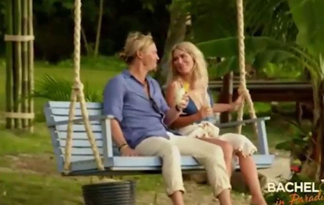 Maybe she's not interested in Jarrod anyway as we see Keira sitting on a swing with Sam Cochrane. Source: Ten