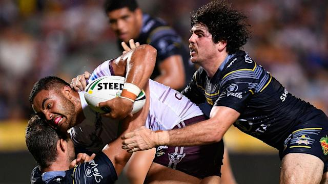 North Queensland Cowboys lost for the first time this season in emphatic fashion against Manly, but both Sydney sides won on Saturday.
