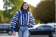 """<p>Head-to-toe <a href=""""https://www.cosmopolitan.com/uk/fashion/style/g1987/25-of-the-best-jeans-108729/"""" rel=""""nofollow noopener"""" target=""""_blank"""" data-ylk=""""slk:denim"""" class=""""link rapid-noclick-resp"""">denim</a> is an all-year-round outfit guarantee. When you've ditched the woollen coat and gloves, pair your light-wash and white denim with pastel separates or a silk scarf instead.</p>"""