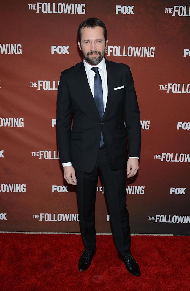 """NORTH HOLLYWOOD, CA - APRIL 29: Actor James Purefoy attends the screening of Fox's """"The Following"""" at Leonard H. Goldenson Theatre on April 29, 2013 in North Hollywood, California. (Photo by Jason Kempin/Getty Images)"""