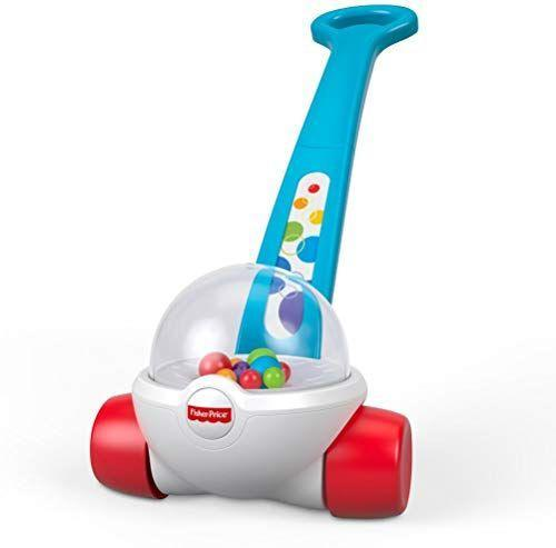 """<p><strong>Fisher-Price</strong></p><p>amazon.com</p><p><strong>$11.69</strong></p><p><a href=""""https://www.amazon.com/Fisher-Price-GKX69-Corn-Popper/dp/B07N4N6LDV/?tag=syn-yahoo-20&ascsubtag=%5Bartid%7C10055.g.4695%5Bsrc%7Cyahoo-us"""" rel=""""nofollow noopener"""" target=""""_blank"""" data-ylk=""""slk:Shop Now"""" class=""""link rapid-noclick-resp"""">Shop Now</a></p><p>You might remember this popper from your early-moving days. The <strong>pushable handle holds beginner walkers up </strong>as they gain leg strength all while making a fun Poppity-Pop sound that keeps baby engaged. <br></p><p><strong>RELATED:</strong> <a href=""""https://www.goodhousekeeping.com/life/g5041/childhood-products/"""" rel=""""nofollow noopener"""" target=""""_blank"""" data-ylk=""""slk:50 Products From Your Childhood That You Can Still Buy Today"""" class=""""link rapid-noclick-resp"""">50 Products From Your Childhood That You Can Still Buy Today</a><br></p>"""
