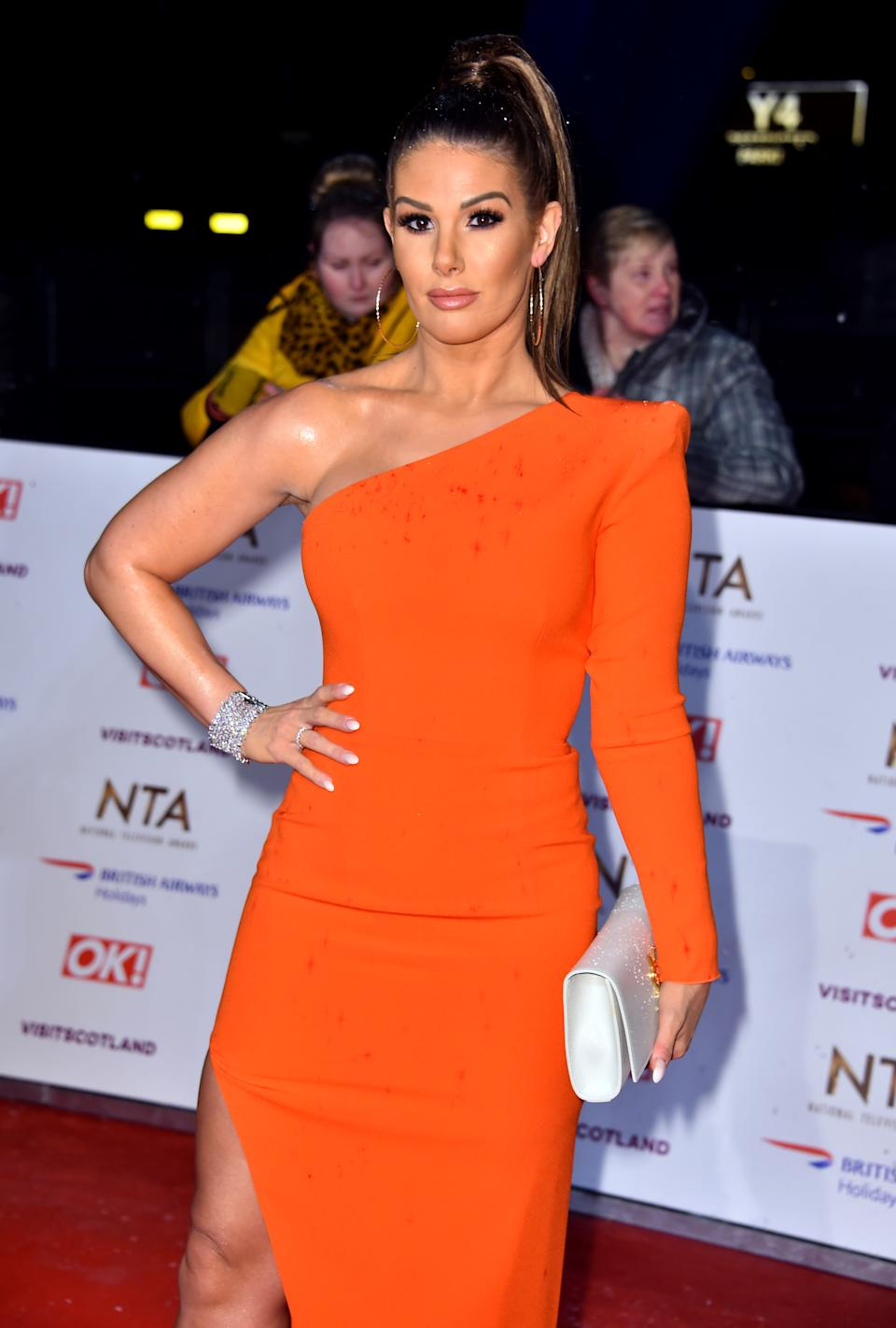Rebekah Vardy attending the National Television Awards 2019 held at the O2 Arena, London. (Photo by Matt Crossick/PA Images via Getty Images)