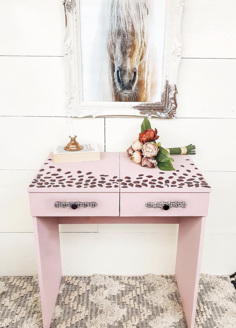 The finished product - an 'amazing' personalised piece of furniture. Photo: Instagram/_owl_and_the_willow_.