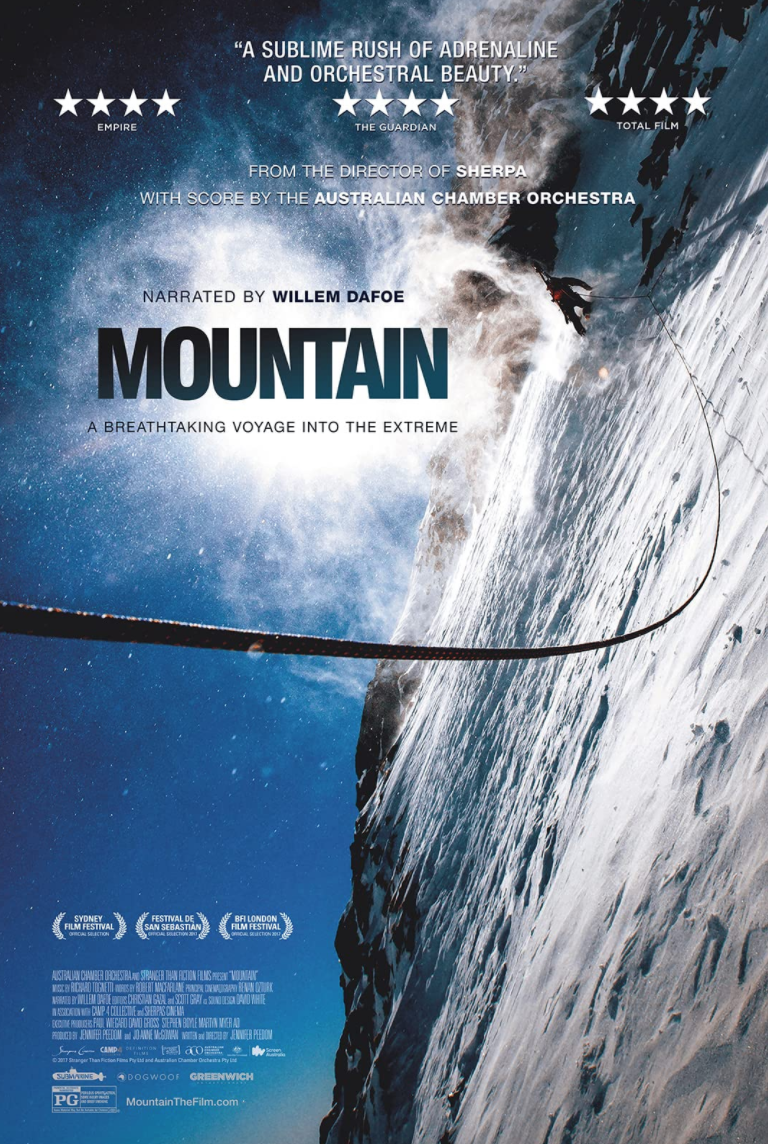 """<p><em>Mountain</em> is more film essay than documentary. A collaboration between the Australian Chamber Orchestra and director Jennifer Peedom, the film is an ode to the human obsession with height. Watch it on your biggest screen. </p><p><a class=""""link rapid-noclick-resp"""" href=""""https://www.youtube.com/watch?v=E0Y-iMNmpAA"""" rel=""""nofollow noopener"""" target=""""_blank"""" data-ylk=""""slk:STREAM IT HERE"""">STREAM IT HERE</a></p>"""
