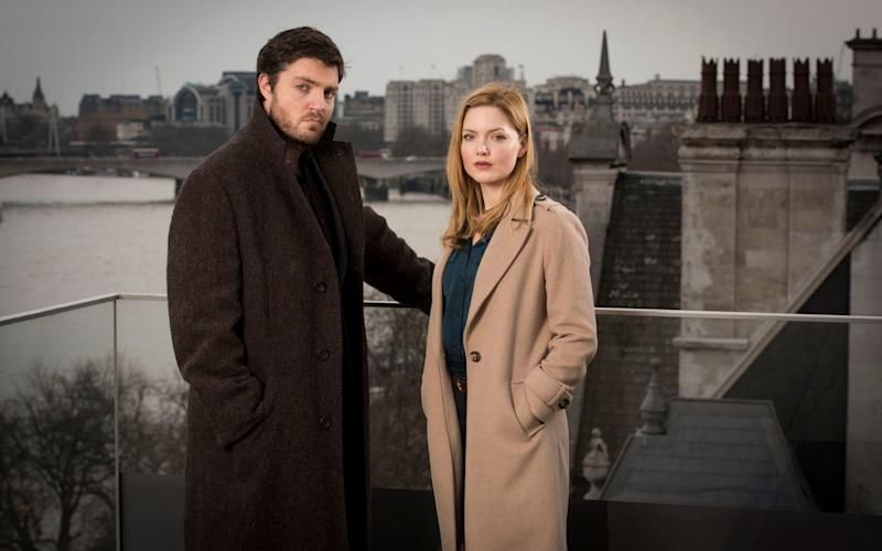 Tom Burke and Robin Ellacott in the BBC adaptation of The Cuckoo's Calling - WARNING: Use of this copyright image is subject to the terms of use of BBC Pictures' Digital Picture