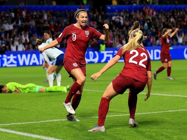 """Jodie Taylor and Beth Mead believe that rooming together at the Women's World Cup was the secret behind England's decisive goal in the hard-fought 1-0 victory over Argentina on Friday night.Taylor ended a 14-month goal drought at international level to secure two wins from two for the Lionesses' in France and qualify for the knock-out stages.Her 18th strike in England colours was set up by a perfectly-placed, low and drilled cross from the left wing by Mead, who impressed while deputising for the injured Toni Duggan.Mead and Taylor are sharing a room on England's travels around France, having briefly played together at club level with Arsenal, and after their crucial intervention in Le Havre on Friday night, both believe their blossoming relationship off-the-pitch is beginning to help on it.""""I just knew where Beth was going to play it,"""" Taylor said. """"It must be roommates and becoming more connected. It was such a good ball from Beth and I was in the right place to time my run and put it in the back of the net.""""""""I'm happy to contribute in whatever way I can,"""" Mead added. """"Jodie and I have been working a lot on things like that in training, trying to get on the same wavelength and it has paid off.""""""""I do believe the closer you are as a team the better your performance will be on the pitch,"""" said Taylor. """"You're more likely to work harder for each other, to show belief in each other and encourage each other. """"We've got a really good team togetherness, not only with Beth as my roommate but the other girls in the team. The camaraderie in the group is good and we just go from strength to strength.""""Taylor won the Golden Boot at England's last major international tournament, the 2017 European Championships in the Netherlands, scoring five goals as the Lionesses reached the quarter-finals.Yet she had not scored in an England shirt since April 2018 before Friday night, and she was left out of Phil Neville's starting line-up for last Sunday's opening game against Scotland, with"""