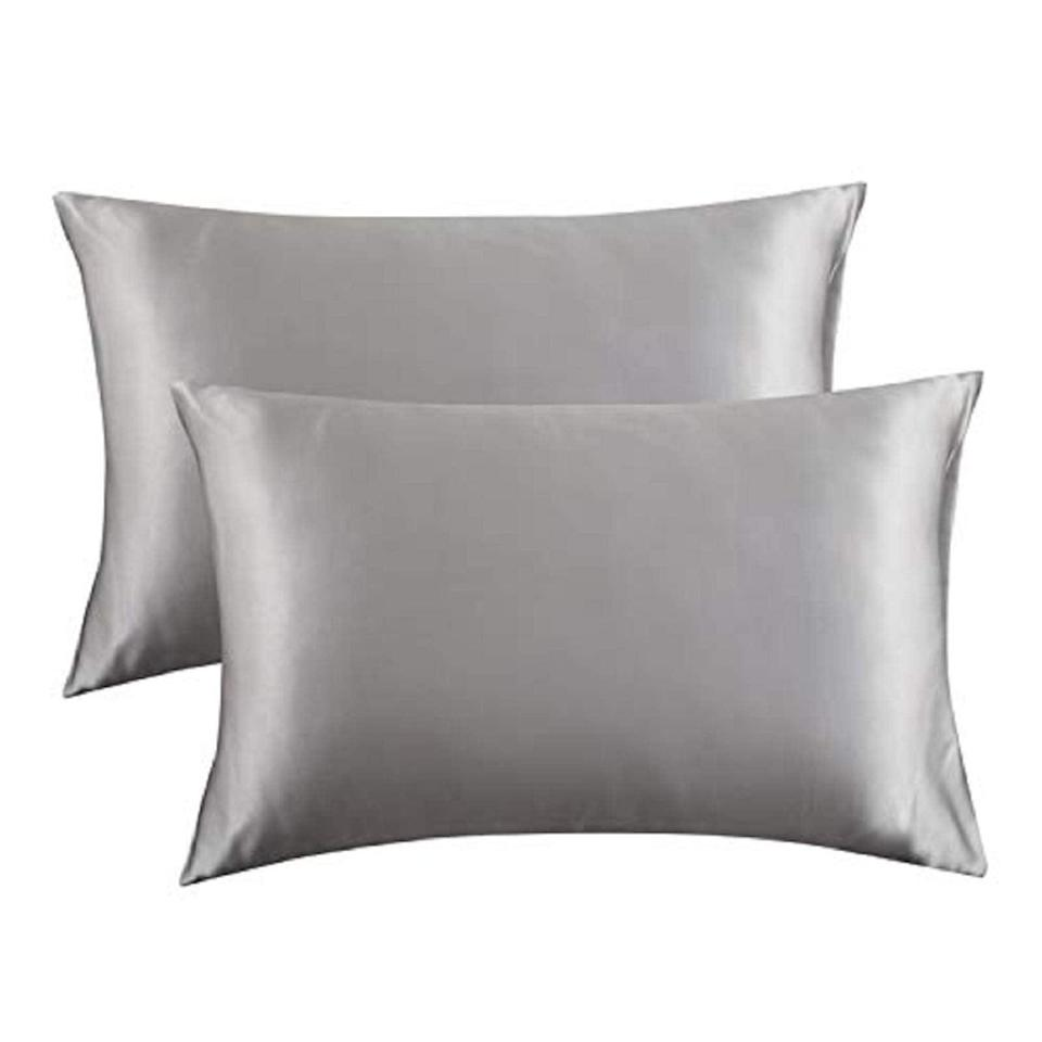 """<h3><strong>Satin Pillowcase Set</strong></h3><br>Give your mom the gift of a good night's sleep with these silky-soft pillowcases that'll make her feel like the queen she is.<br><br><strong>Rating: </strong>4.5 out of 5 stars, and 158,467 reviews<br><br><strong>A Satisfied Customer Review: </strong>""""I've heard that sleeping on cotton is like rubbing your face on steel wool all night since that's how delicate the skin there is.<br>All I know is I shower and style my hair at night and after sleeping on these, my hair looked freshly blown dry the next morning. I'm not exaggerating my, hair looked the exact same in the morning as it did after I styled it the night before. So, if this material is that nurturing to my hair I can only imagine how my face is loving it. I'm hooked and will be buying more colors.""""<br><br><strong>Bedsure</strong> Satin Pillowcase for Hair and Skin, 2-Pack, Silver Grey, $, available at <a href=""""https://amzn.to/3fqWpcB"""" rel=""""nofollow noopener"""" target=""""_blank"""" data-ylk=""""slk:Amazon"""" class=""""link rapid-noclick-resp"""">Amazon</a>"""