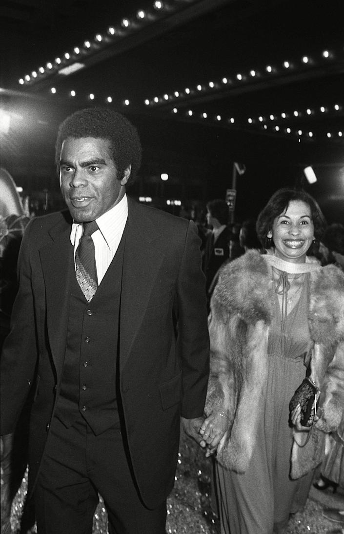With his wife Betsy at a film premiere in Los Angeles in 1978 - Bei/Shutterstock