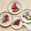 <p>Grilling watermelon brings out its natural sweetness that's complemented by adding some simple sweet or savory toppings. Try this easy grilled watermelon recipe for a fun and festive summer appetizer or dessert.</p>