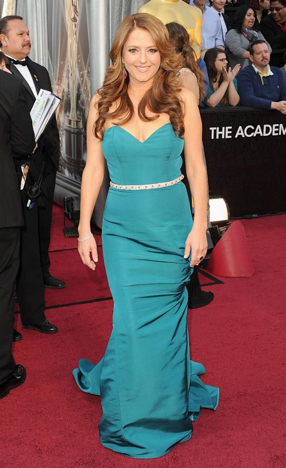 Annie Mumolo arrives at the 84th Annual Academy Awards in Hollywood, CA.