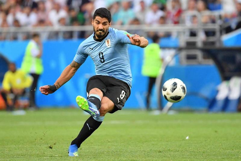 Luis Suarez scored Uruguay's brilliant opener and they never looked back (AFP/Getty Images)