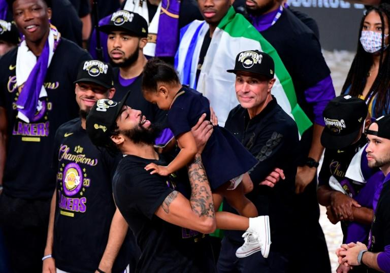 Lakers' Davis relishes first NBA title after turmoil, trade