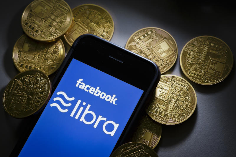 Berlin, Germany - June 21: The logo of the crypto currency facebook Libra is displayed on a smartphone on June 21, 2019 in Berlin, Germany. (Photo by Thomas Trutschel/Photothek via Getty Images)