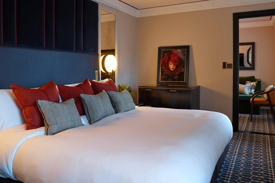 One of the plush bedroomsMayfairTownhouse